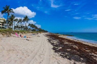 WEST PALM BEACH, Florida -7 May 2018: Tourists at West Palm Beach in Florida