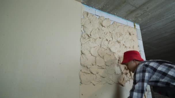 építő szintező vakolat, a szénsav hozzáadásával készült beton blokk fal építése vonalzó