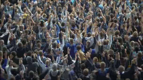aufgeregte Ultra-Fans, die ihr Team unterstützen, 4k
