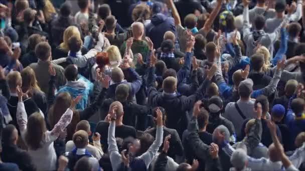 Viele Fußball-fans applaudieren, unkenntlich Masse, 4k
