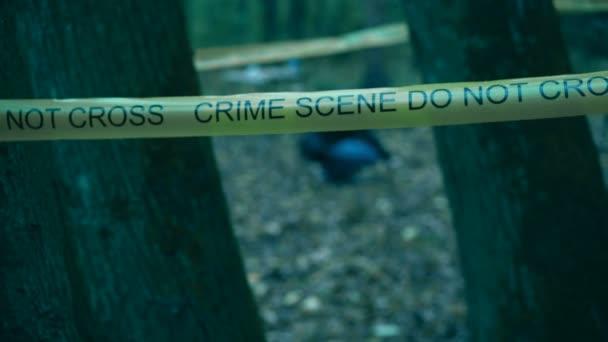 Policejní detektiv hledá důkazy na místě činu, vyšetřují v procesu