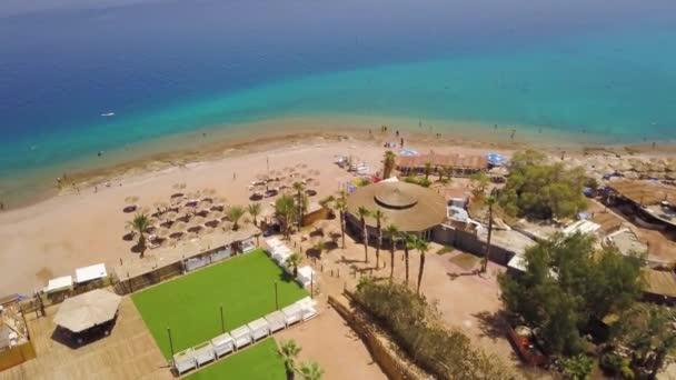 Ejlat beach letecké 4k záběry