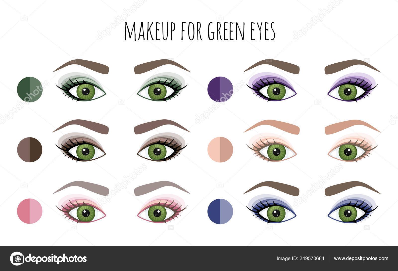 best makeup colors for green eyes - cat eye makeup