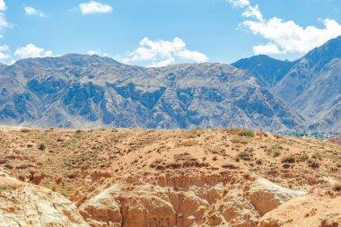 Beautiful mountainscape scenery blue sky