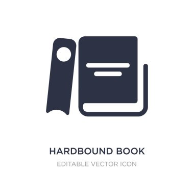 hardbound book variant icon on white background. Simple element