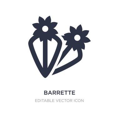 barrette icon on white background. Simple element illustration f
