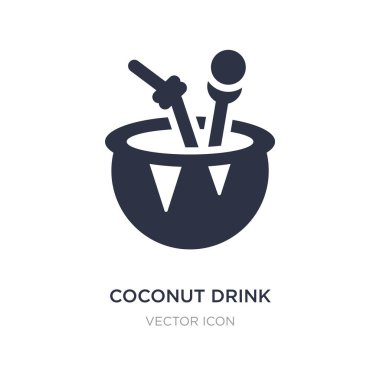 coconut drink icon on white background. Simple element illustrat
