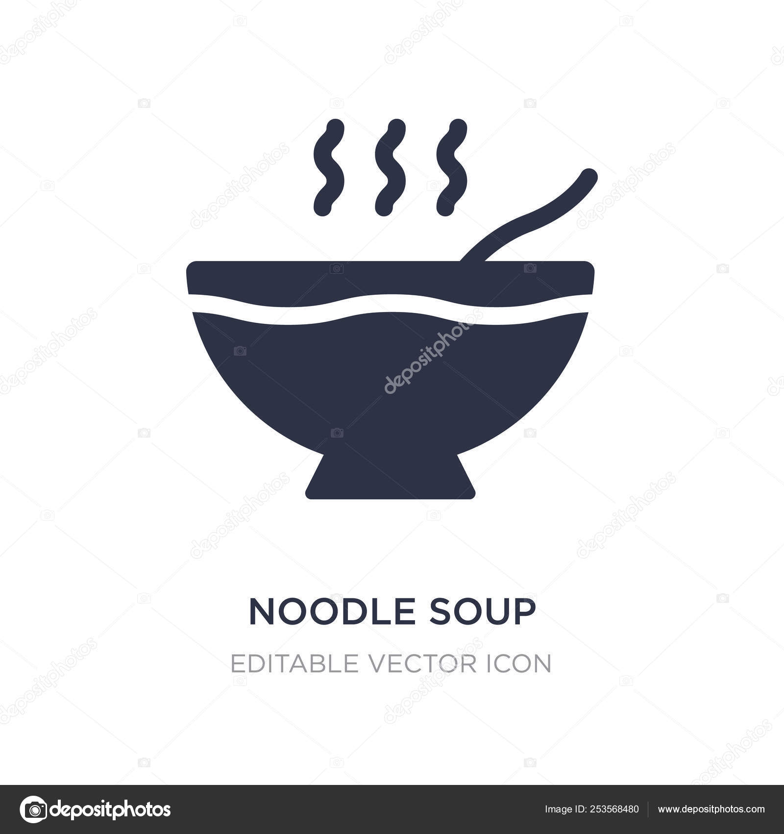 Noodle Soup Icon On White Background Simple Element Illustratio Vector Image By C Zaurrahimov Vector Stock 253568480