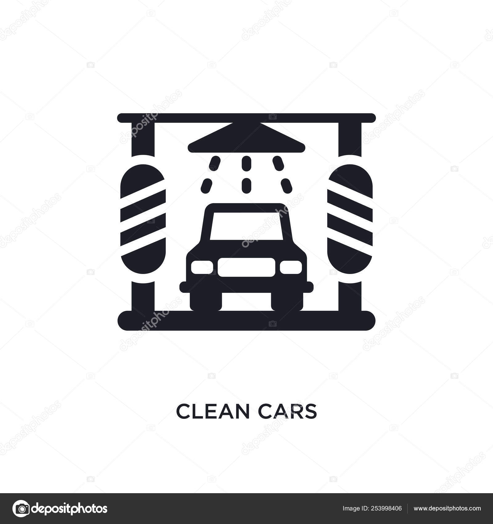Clean Cars Isolated Icon Simple Element Illustration