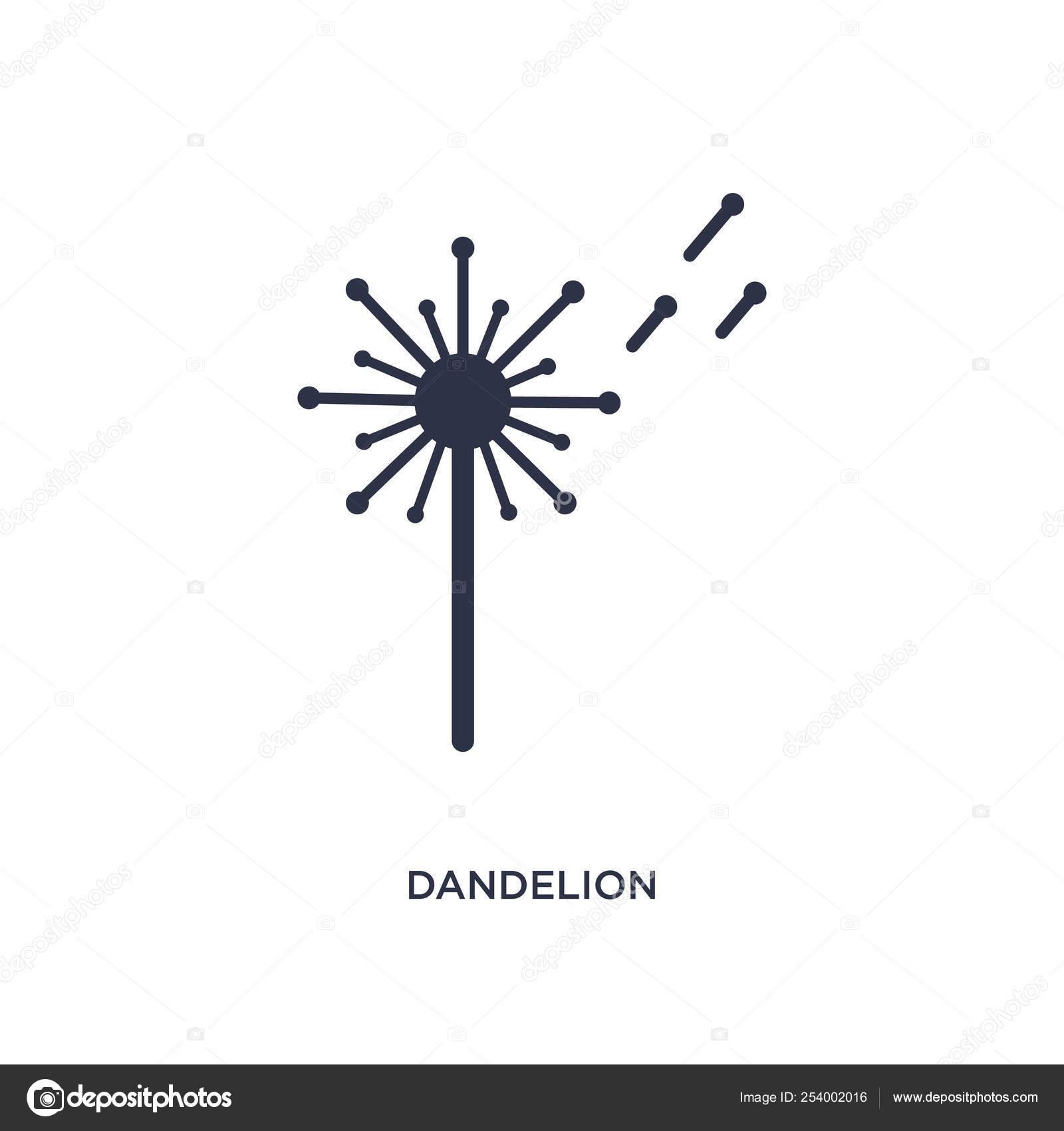 Dandelion Icon Simple Element Illustration Nature Concept
