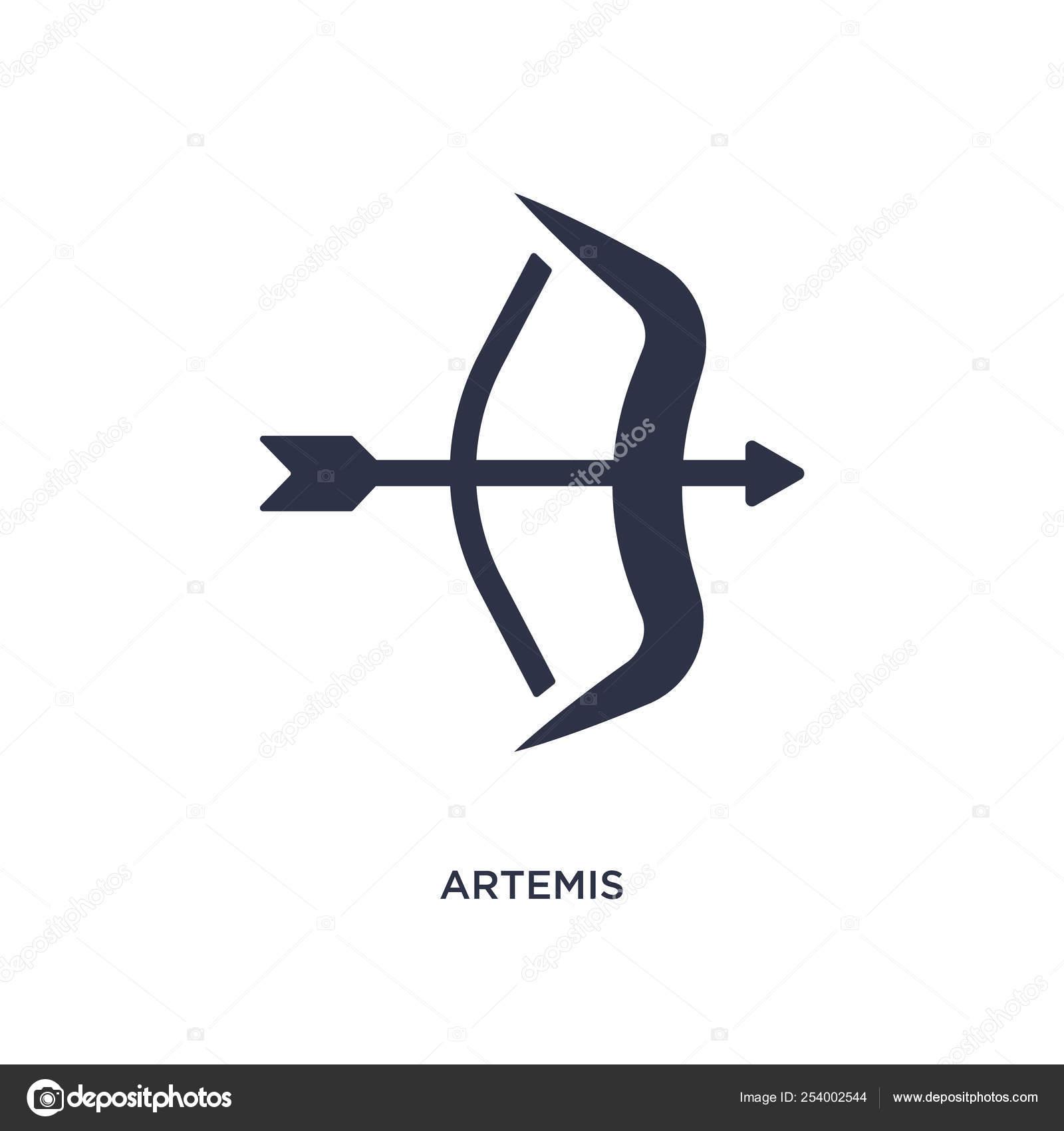 Artemis Icon Simple Element Illustration Greece Concept