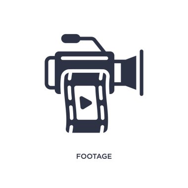 footage isolated icon. Simple element illustration from cinema concept. footage editable logo symbol design on white background. Can be use for web and mobile.