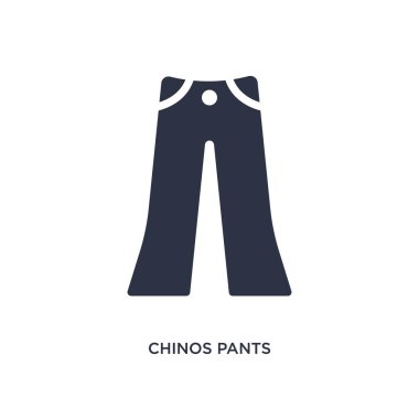 chinos pants isolated icon. Simple element illustration from clothes concept. chinos pants editable logo symbol design on white background. Can be use for web and mobile.