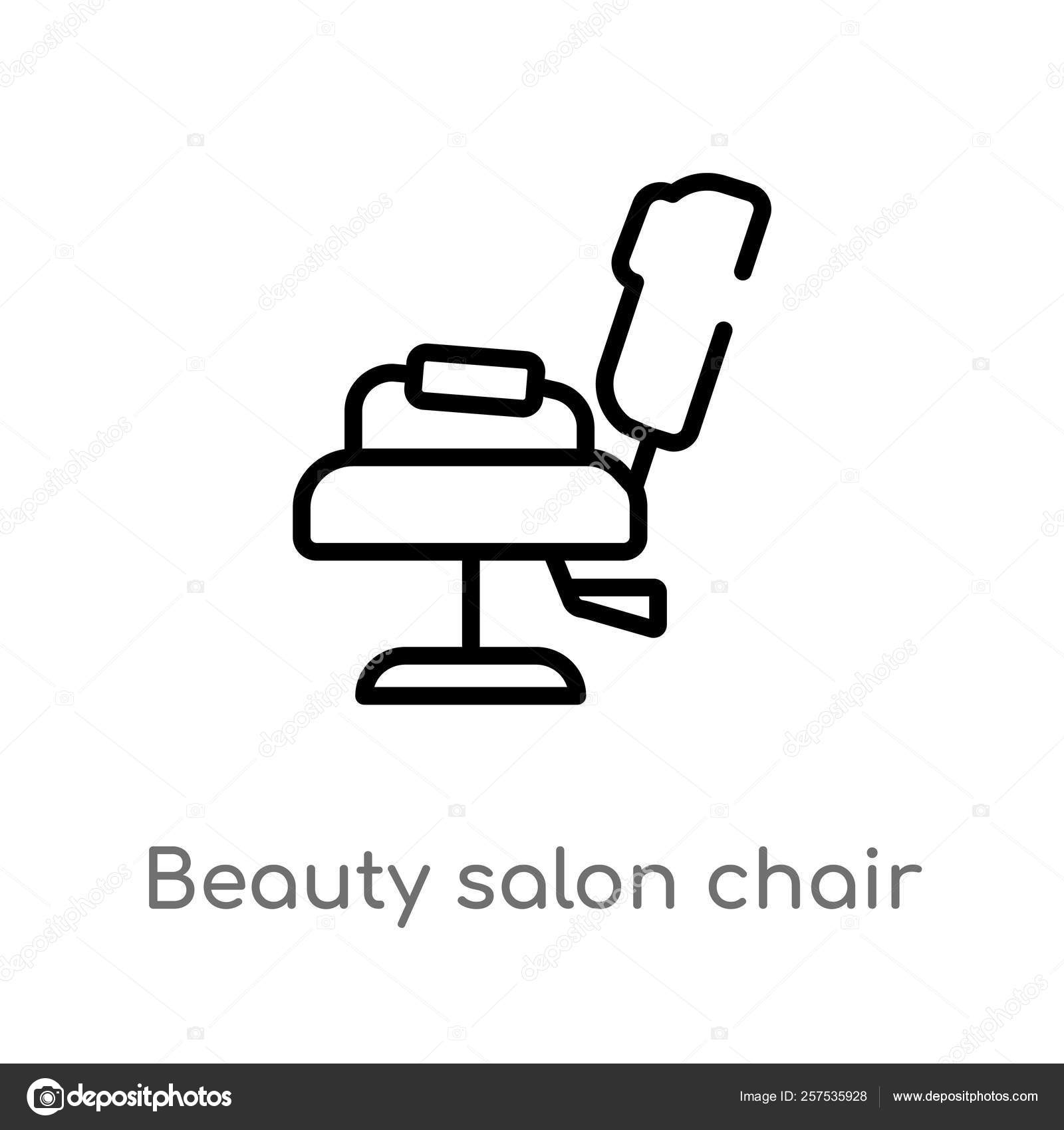 Tremendous Outline Beauty Salon Chair Vector Icon Isolated Black Simple Home Interior And Landscaping Eliaenasavecom
