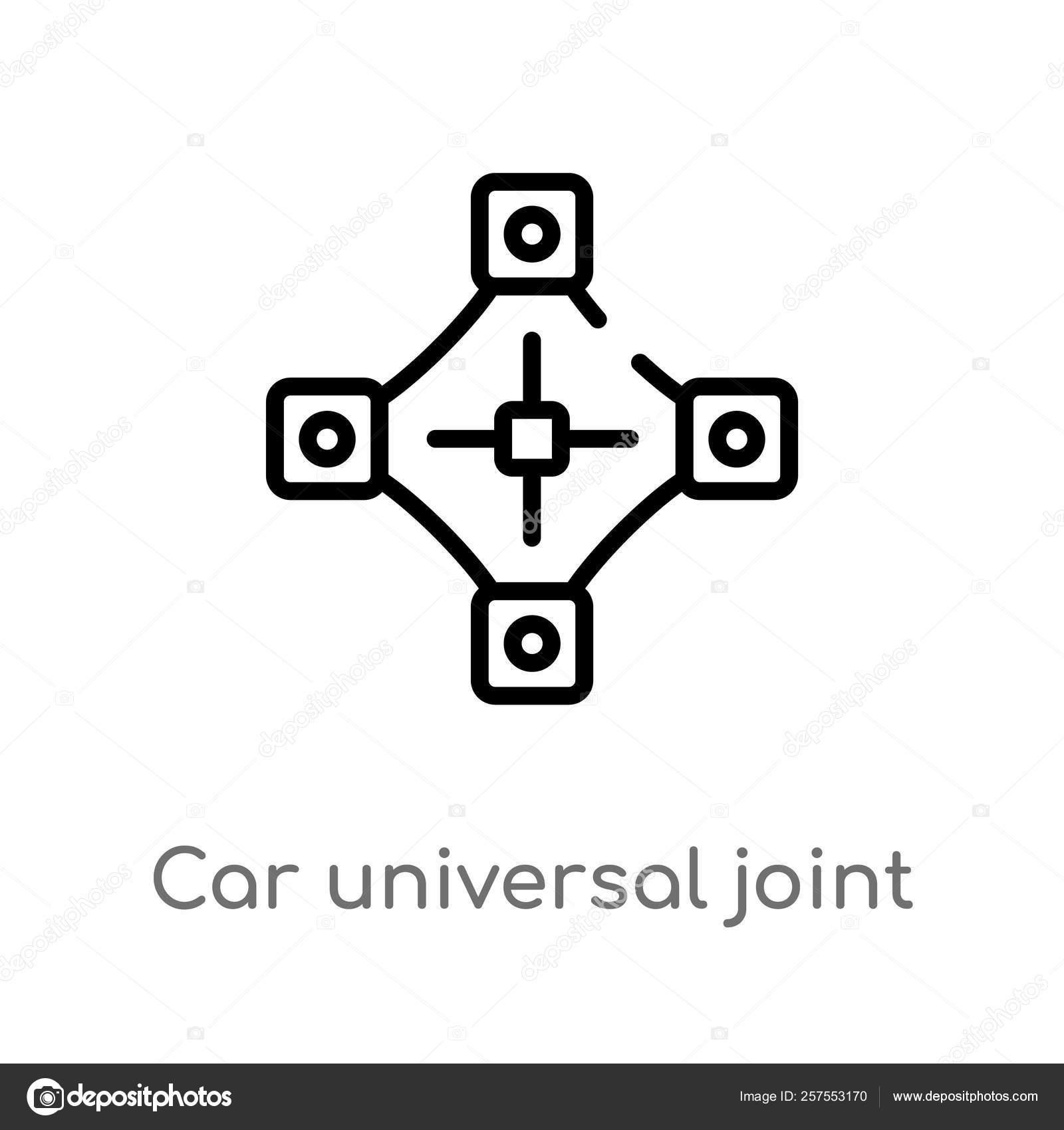 Ícone Vetor Junção Universal Carro Esboço Ilustração Simples