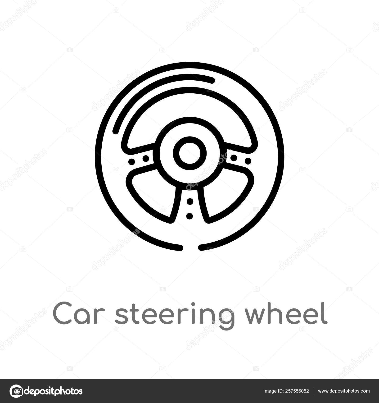 outline car steering wheel vector icon isolated black simple line stock vector c zaurrahimov 257556052 outline car steering wheel vector icon isolated black simple line stock vector c zaurrahimov 257556052