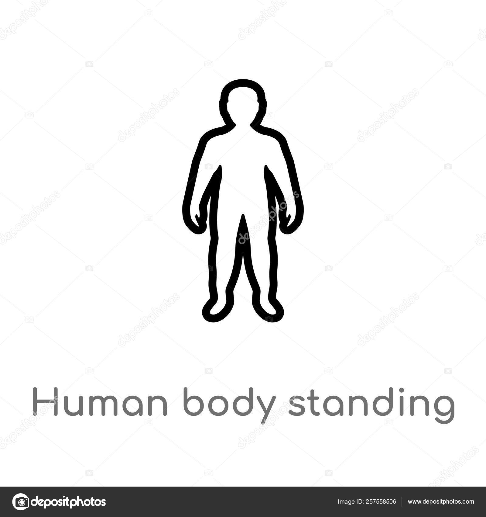 vector human body black and white outline human body standing black vector icon isolated black simple stock vector c zaurrahimov 257558506 vector human body black and white outline human body standing black vector icon isolated black simple stock vector c zaurrahimov 257558506