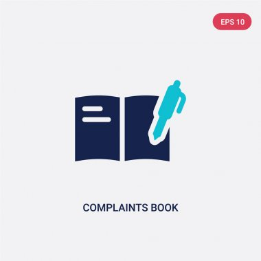 two color complaints book vector icon from communications concep