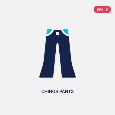 two color chinos pants vector icon from clothes concept. isolate
