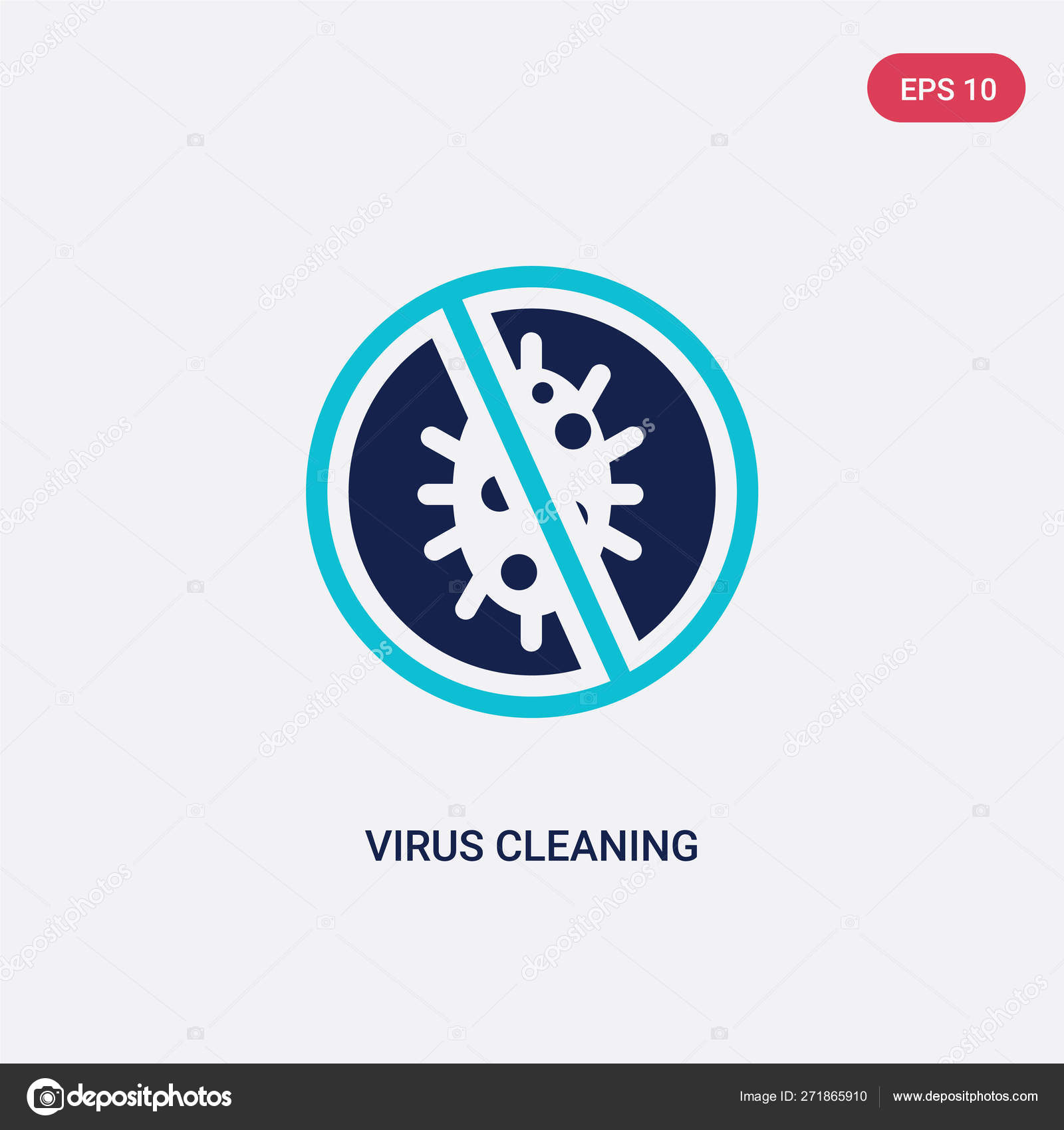 Two color virus cleaning vector icon from cleaning concept  isol