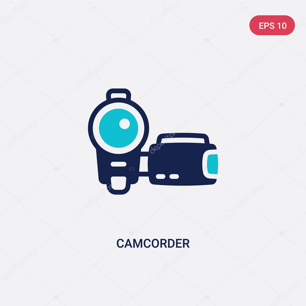 two color camcorder vector icon from blogger and influencer conc