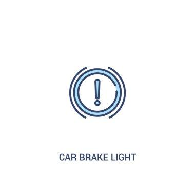 car brake light concept 2 colored icon. simple line element illu
