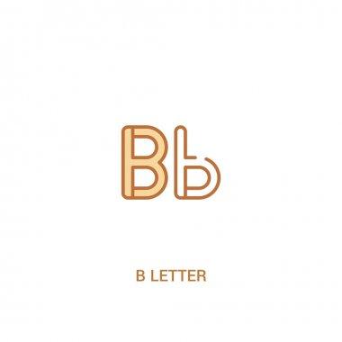 b letter concept 2 colored icon. simple line element illustratio