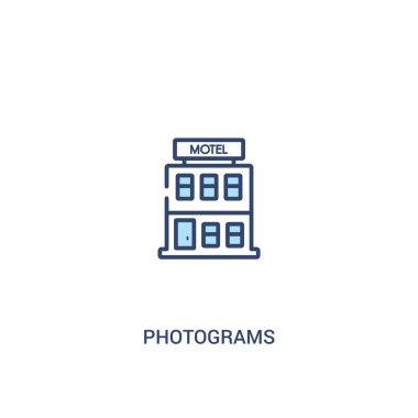 photograms concept 2 colored icon. simple line element illustrat