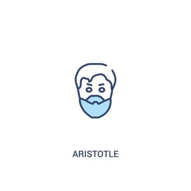 aristotle concept 2 colored icon. simple line element illustrati