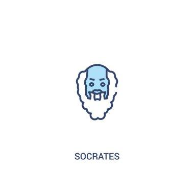 socrates concept 2 colored icon. simple line element illustratio