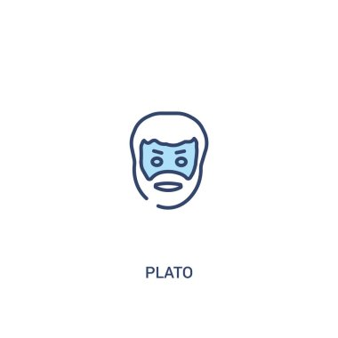 plato concept 2 colored icon. simple line element illustration.