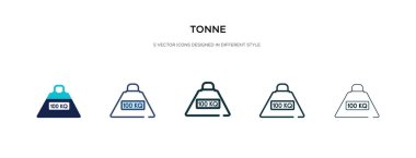 tonne icon in different style vector illustration. two colored a