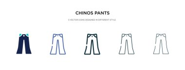 chinos pants icon in different style vector illustration. two co