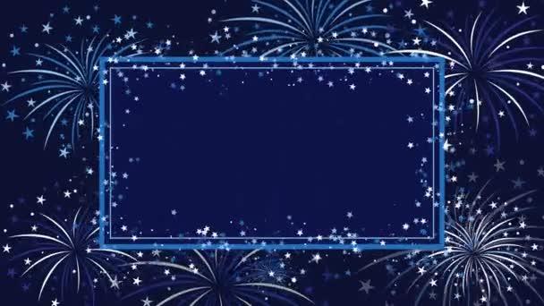 Hintergrund mit Feuerwerk und Sternen zum Geburtstag