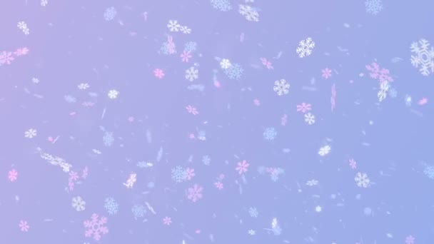 Kouzelné barevné vločky na modrém pozadí