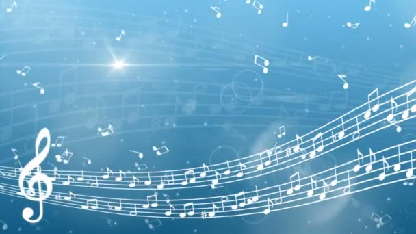 Abstract music background with notes