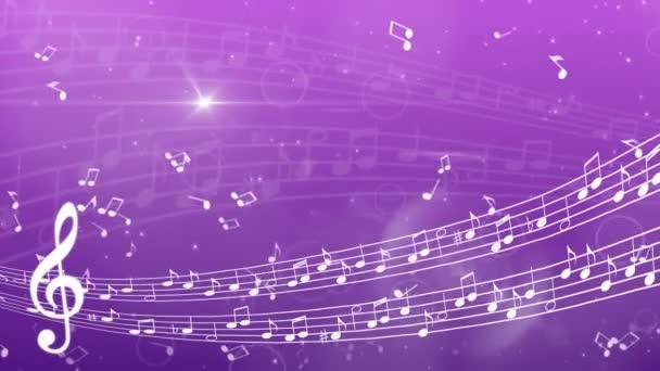 abstraktní hudební pozadí s poznámkami