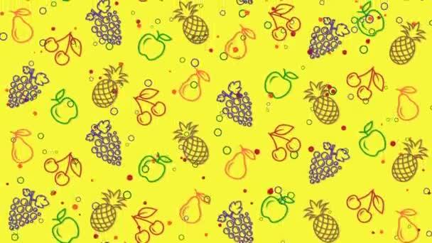 Nyári színes háttér gyümölccsel