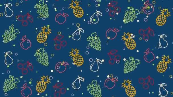 Letní barevné pozadí s ovocem