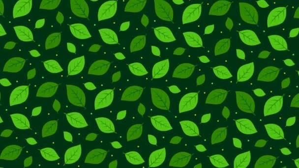 Sötétzöld háttér levelekkel