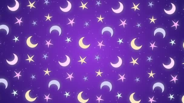 Moon and stars, rotating background