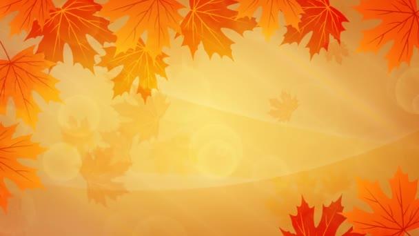 podzimní pozadí se žlutými listy
