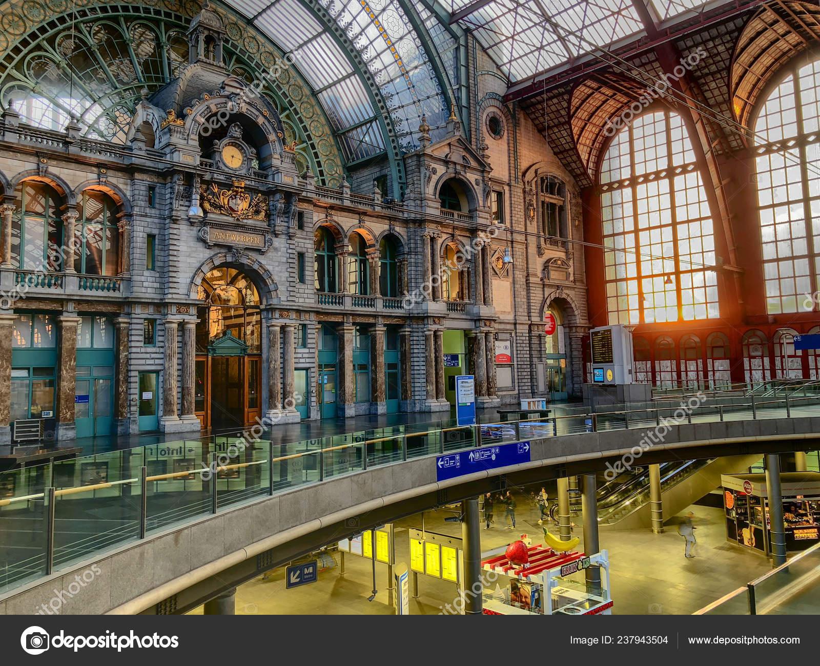 Antwerp Belgium Anno 2018 Monumental Antwerp Train Station Antwerp Central Stock Editorial Photo C Bjorn999 237943504