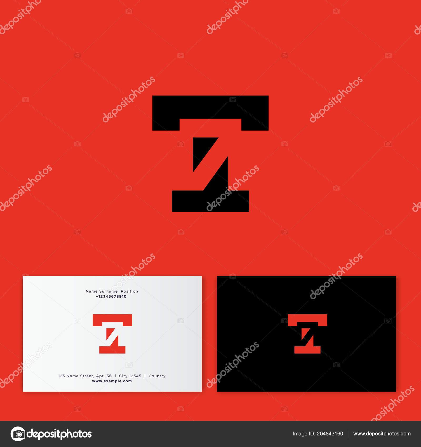 T Et Monogramme Numro 7 Lettre Symbole Numrique Cach Logo Emblme Du Style Plat Identit Carte De Visite