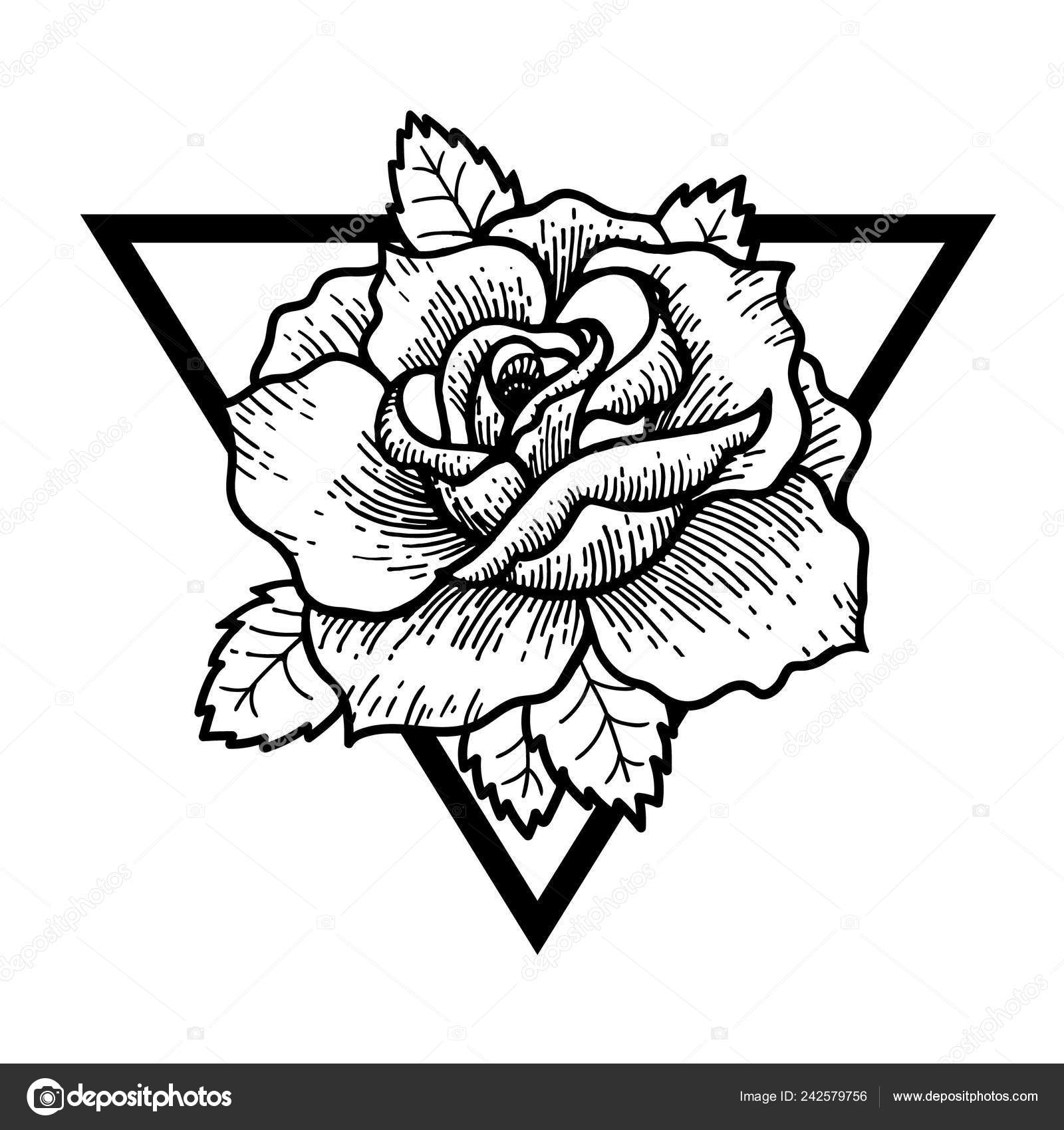 Sacred Geometry Rose Rose Flower With Sacred Geometry