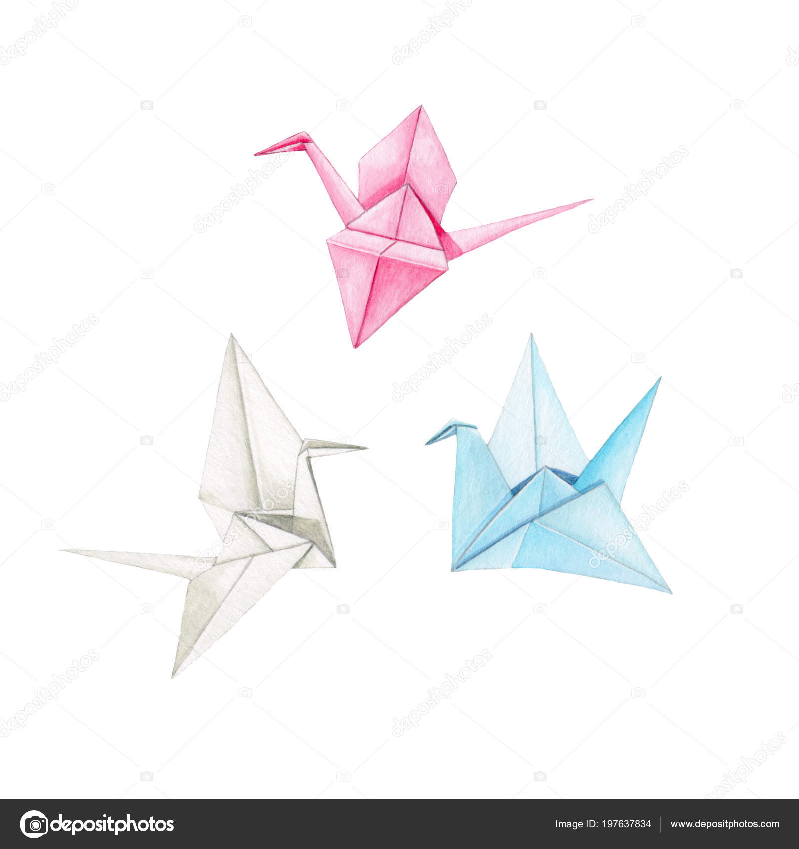 Origami Crane Stock Photo, Picture And Royalty Free Image. Image ... | 1700x1600