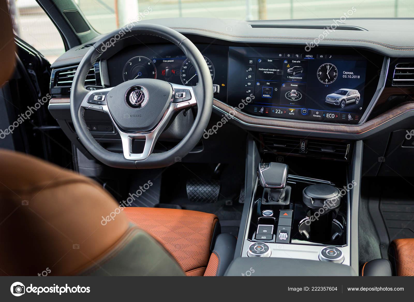 October 2018 Vinnitsa Ukraine New Volkswagen Touareg Presentation Showroom Interior Stock Editorial Photo C Bondvit 222357604