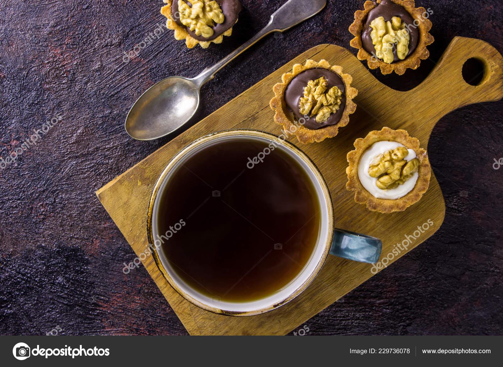 Guten Morgen Konzept Frühstück Espresso Kaffee Begleitet Von