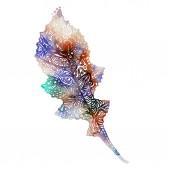 Lineáris levél egy fa etnikai stílusú többszínű akvarell töltse ki a rajz absztrakt grafikai elemek