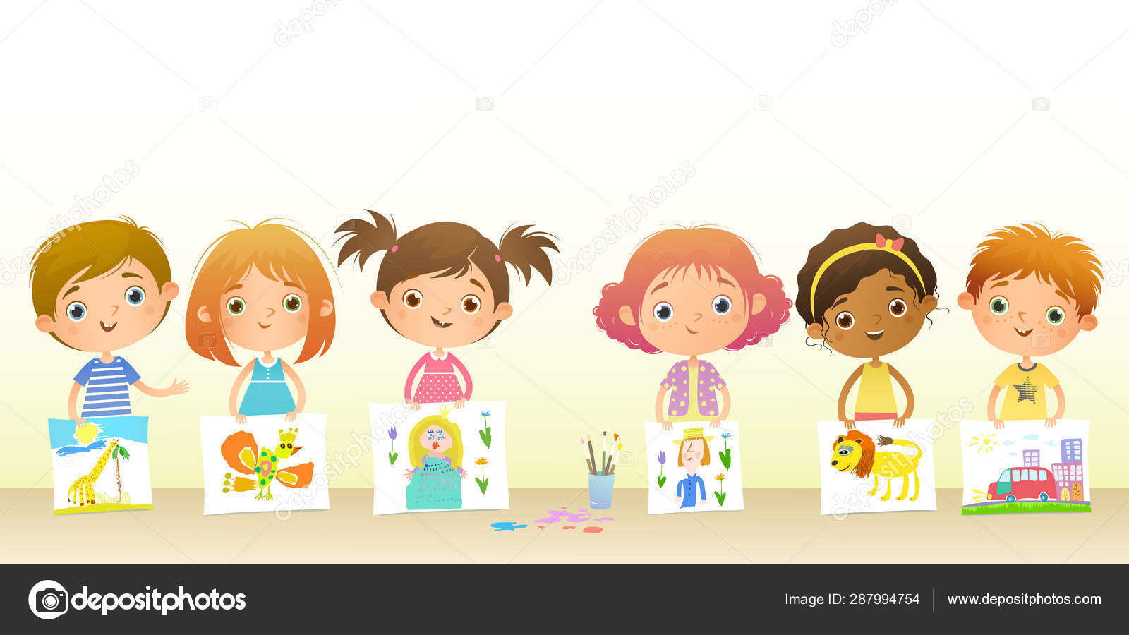 Funny Cartoon Images Of Boys horizontal light background your text funny cartoon girls